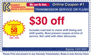 $30 off transmission service or flush coupon