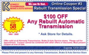 $100 off any rebuilt automatic transmission coupon