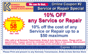 10 percent off any service or repair coupon up to $50 maximum